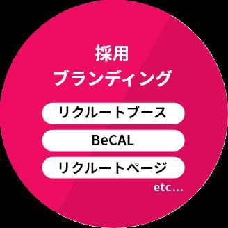 採用ブランディング リクルートブース BeCAL リクルートページ
